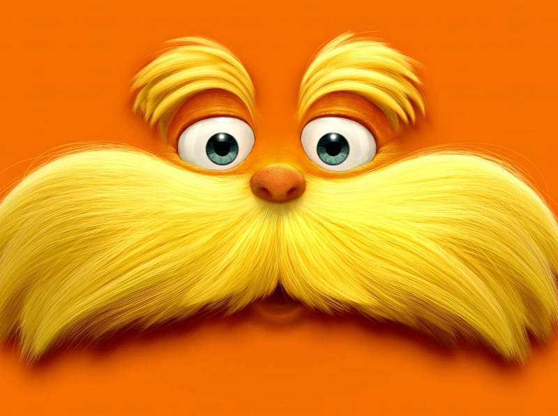 Dr. Seuss Lorax – Temporary Lorax Tattoos