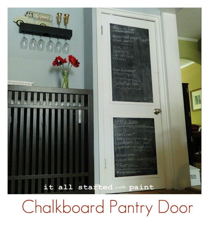 chalkboard paint for doors