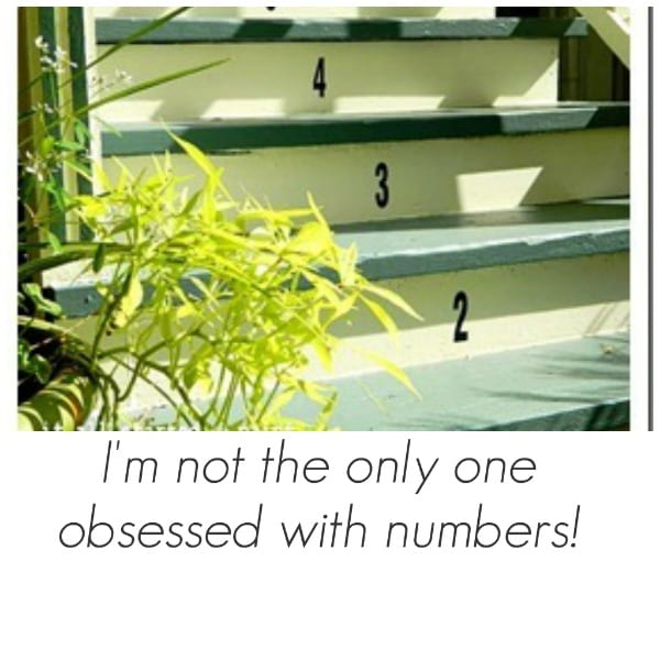 diy numbering stairs