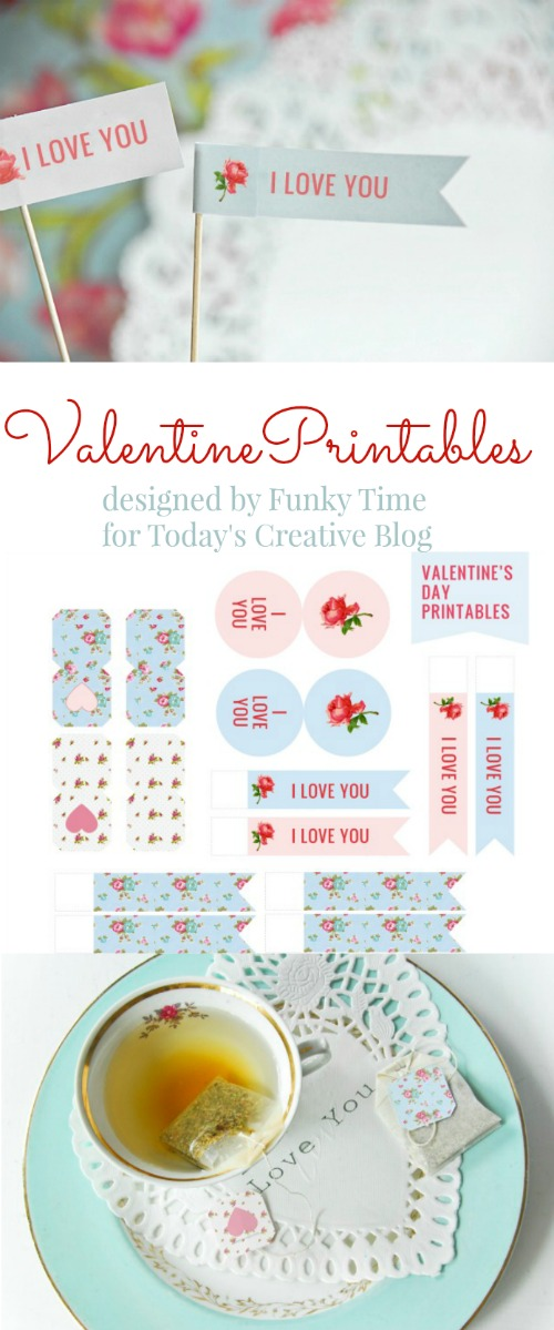 Valentines Day Printable by FunkyTime for TodaysCreativeBlog.net