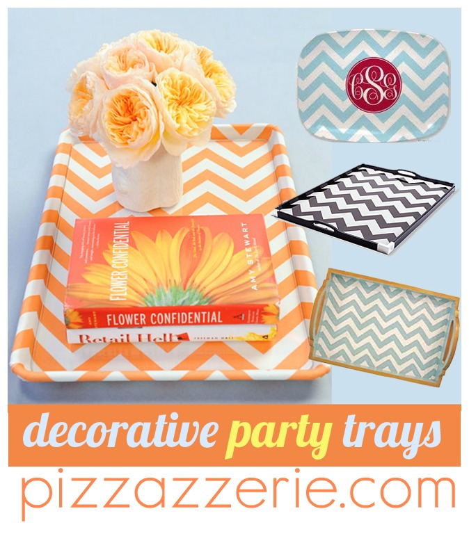 chevron party trays