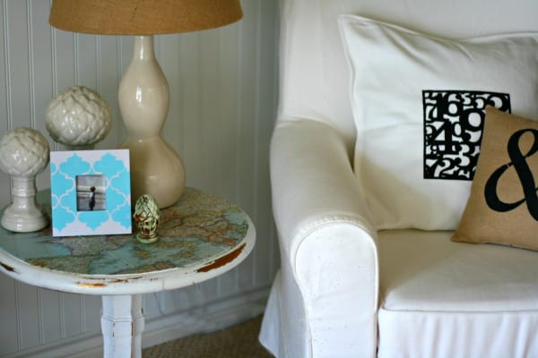 decorating with maps decoupage ideas