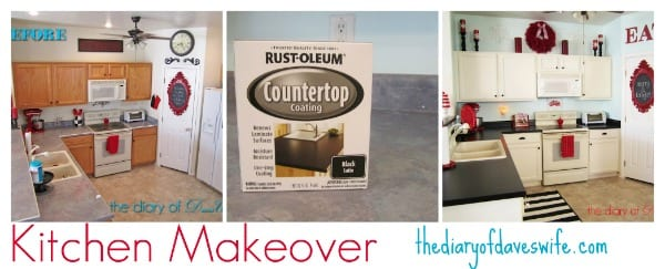 kitchen makeover with rustoleum counter top