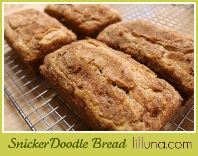 Spring time treat snickerdoodle bread