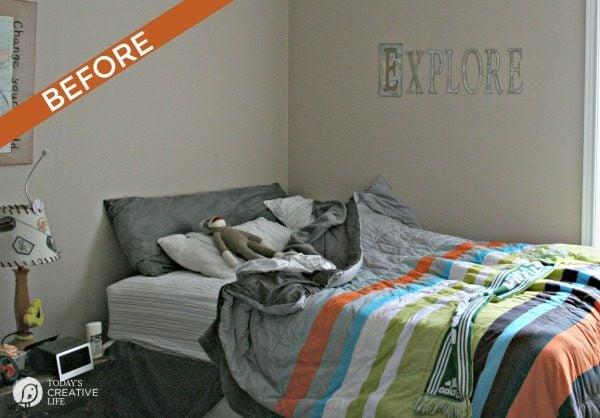 Boy Bedroom Makeover BEFORE | TodaysCreativeLife.com