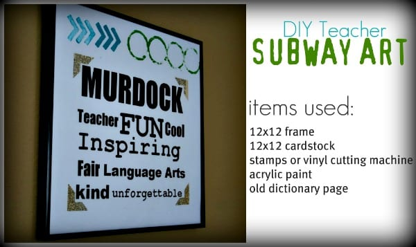 DIY Subway Art {Teacher Appreciation ideas} Skip To My Lou