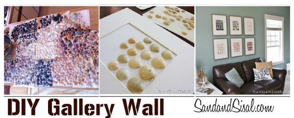 DIY wall decor- sea shells