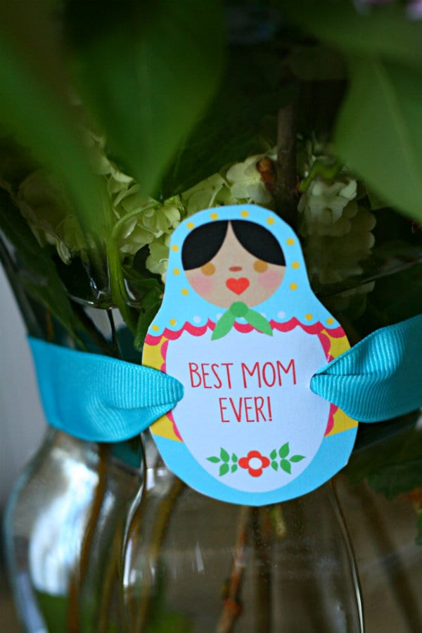 Happy Mother's Day Printable for quick gifts and ideas. Created my FunkyTime for TodaysCreativeLife.com