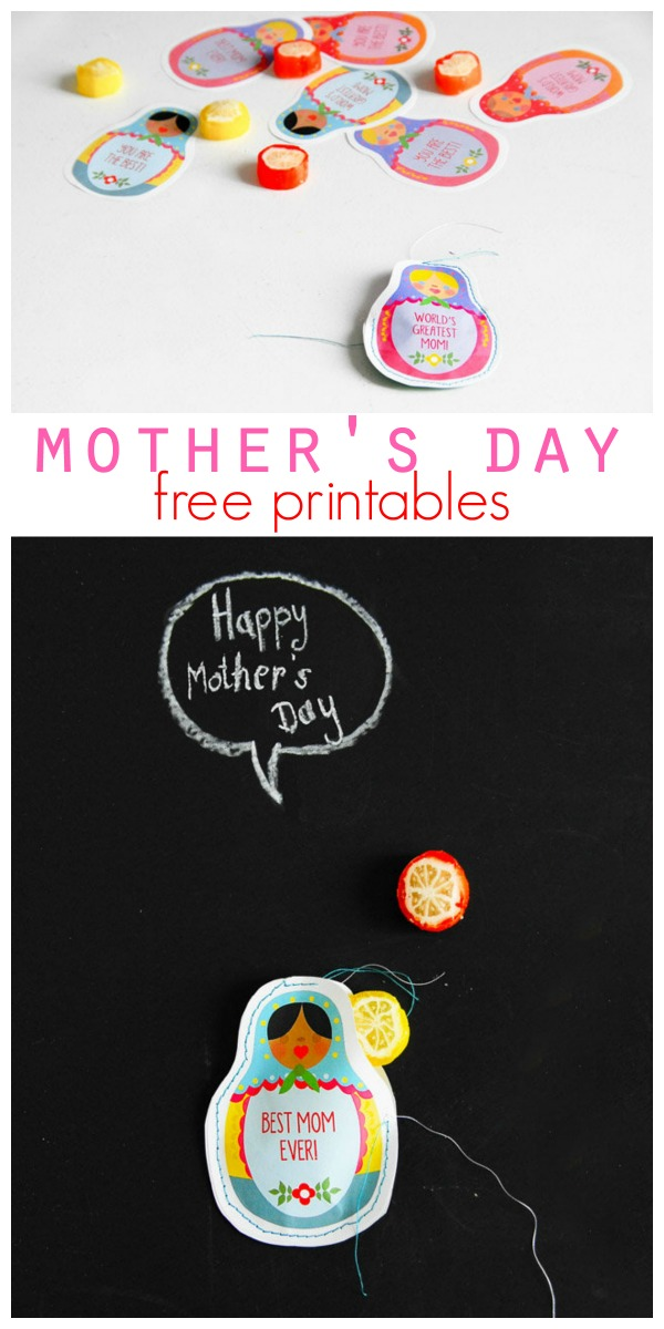 Happy Mothers Day Printable for quick gifts and ideas. Created my FunkyTime for TodaysCreativeLife.com