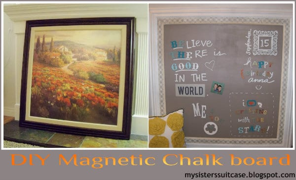 diy home decor chalk board paint