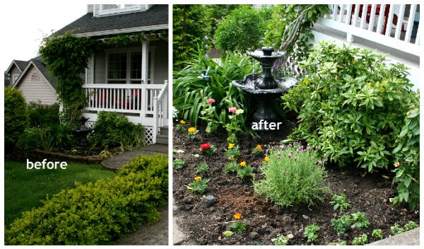 planting flowers curb appeal