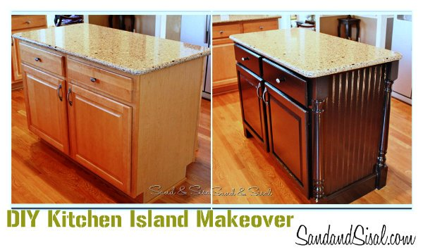 kitchen island makeover update