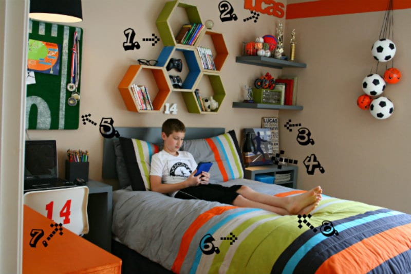 storing craft supplies decorating a boy bedroom - Boy Bedroom Decor Ideas