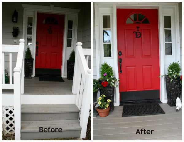 entery way red door curb appeal