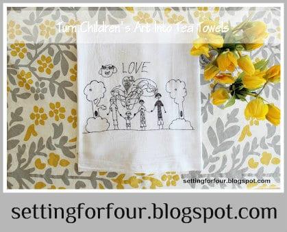 Crafts using tea towels