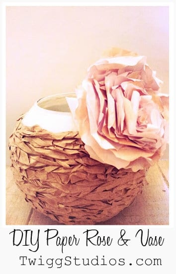 paper bag crafts paper rose