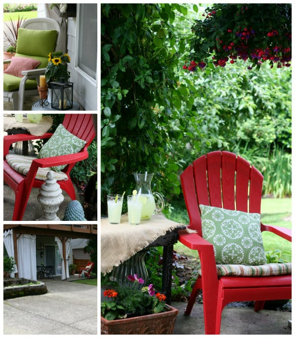 how to decorate a patio