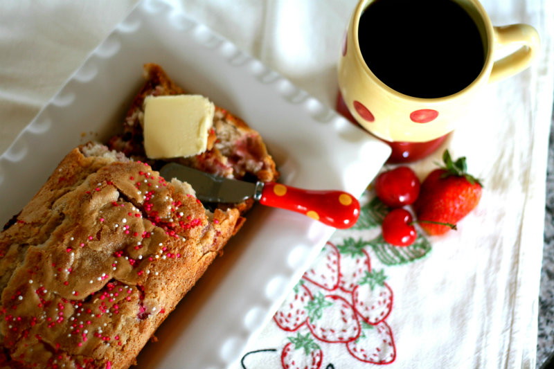 Strawberry Cherry Quick Bread