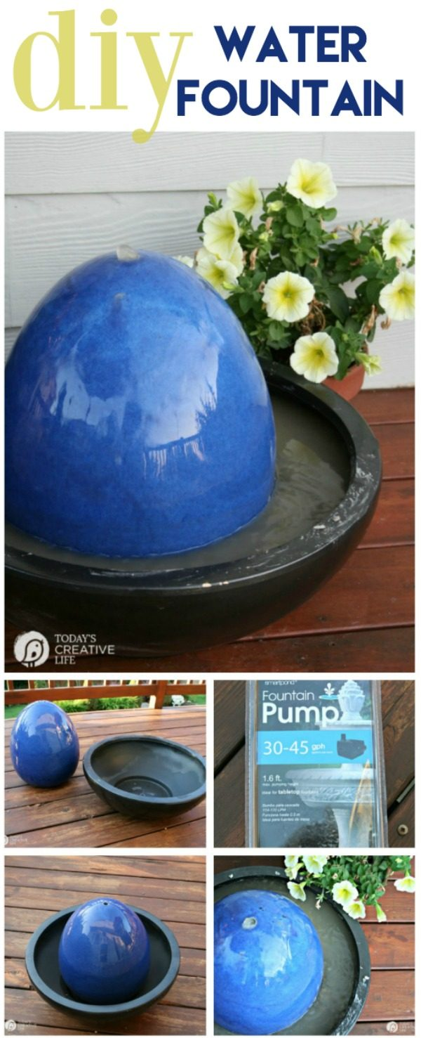 Diy fountain water feature tutorial today 39 s creative life for Build your own outdoor water fountain