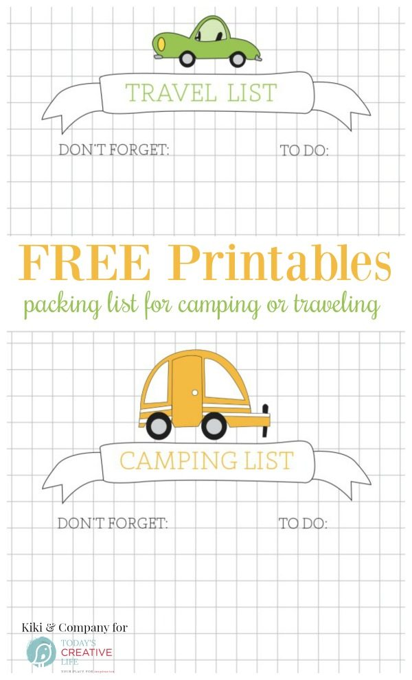 Travel Printables for Kids | Packing list, To do list. Free Printables | Click on the photo for your free download.