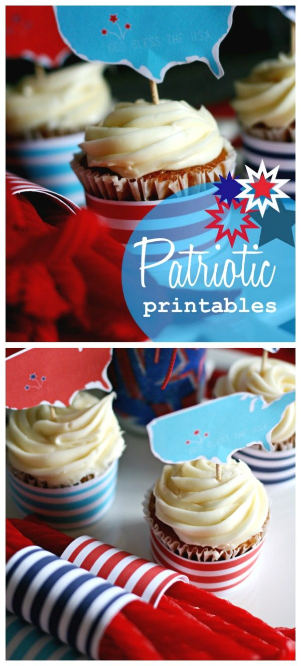 4th of July Printables | These fun patriotic printables by KiKi & Co. for Today's Creative Life make any 4th of July BBQ pop! Download your free printables by clicking on the photo.