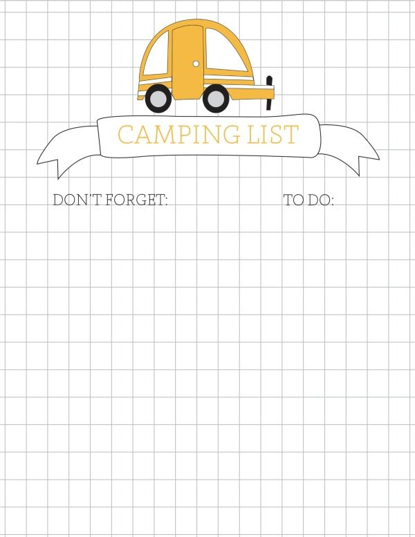 Travel Printables for Kids | Camping Packing list, To do list. Free Printables | Click on the photo for your free download.