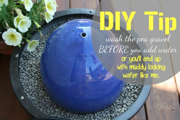 how to make a water fountain