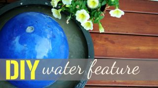 DIY Fountain Water Feature Tutorial