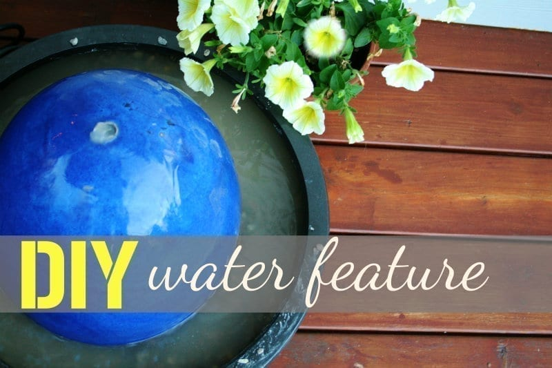DIY Fountain Water Feature Tutorial