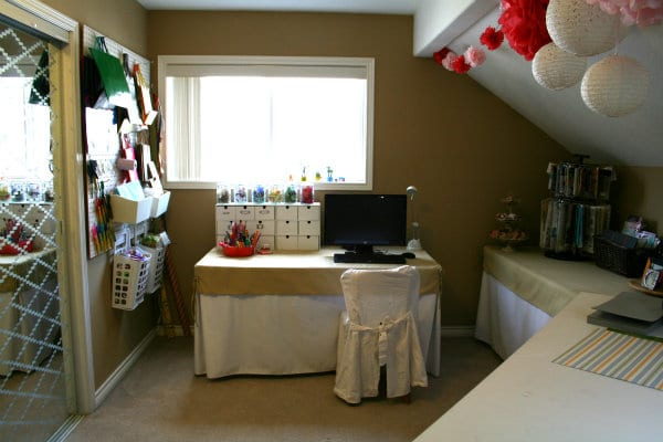 craft space for gift wrapping