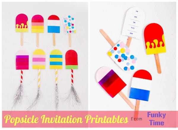 Popsicle Party Printables | Printable party invites| Printable invitations | Designed by FunkyTime for Today's Creative Life. See more creative printables on TodaysCreativeLife.com
