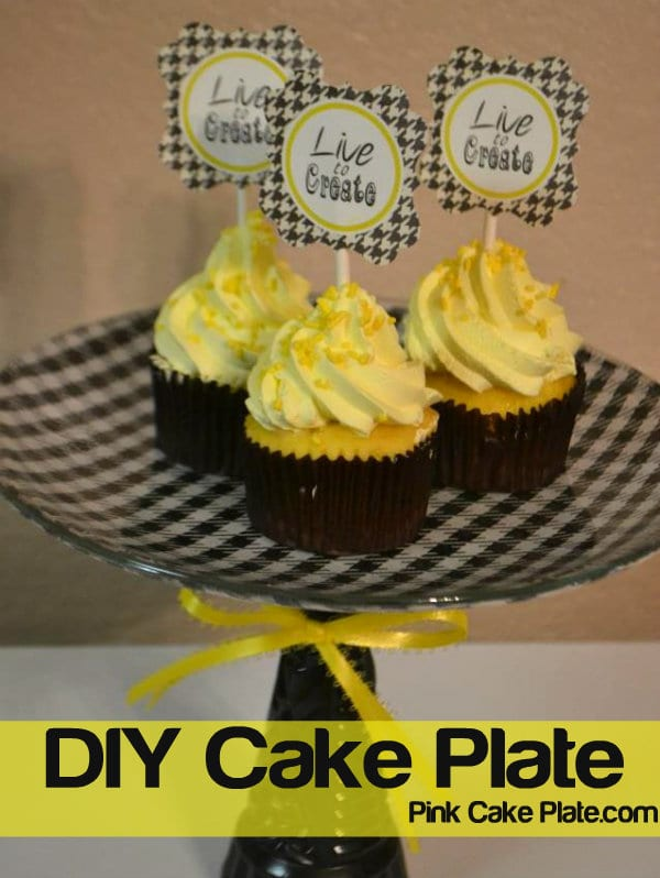 How to make a cake plate