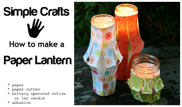 Paper Lantern Tutorail | how to make a simple paper lantern | TodaysCreativeLife.com