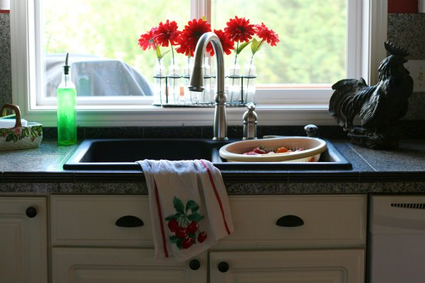 Installing a Kitchen Sink \ Black Granite Sink