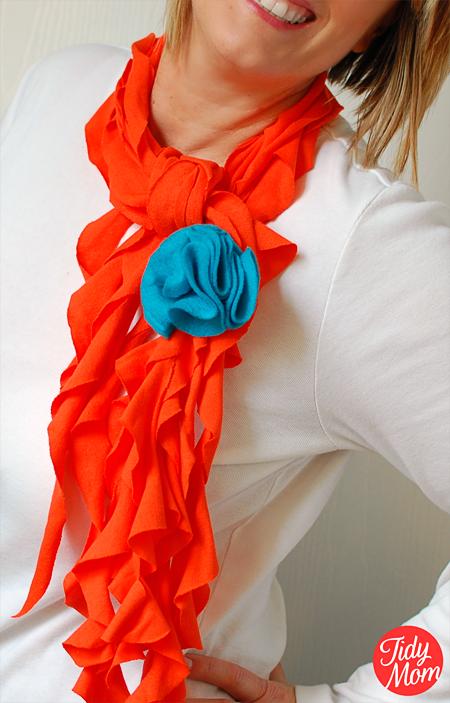 Diy Ruffled scarf - TidyMom.net
