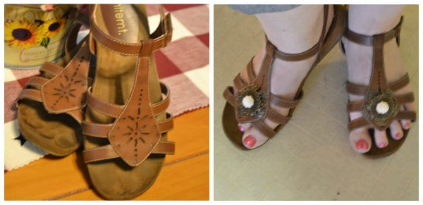 embellish your shoes- featured on Today's Creative Blog