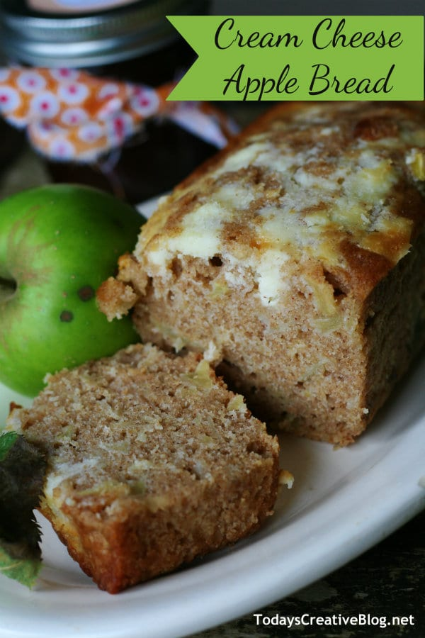 Cream Cheese apple bread recipe | TodaysCreativeBlog.net