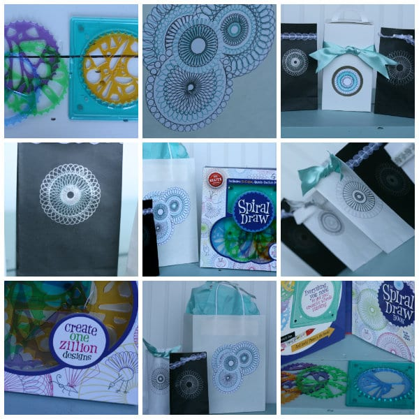 Gift wrapping ideas using Spiral Drawing