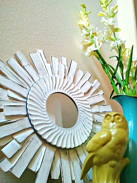 DIY Wall Decor sunburst mirror