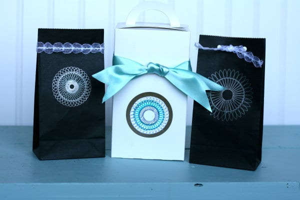gift wrapping ideas using Sprial Draw