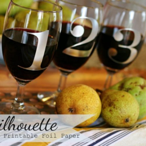 silhouette project- wine glass label