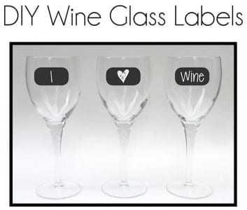 wine glass labels