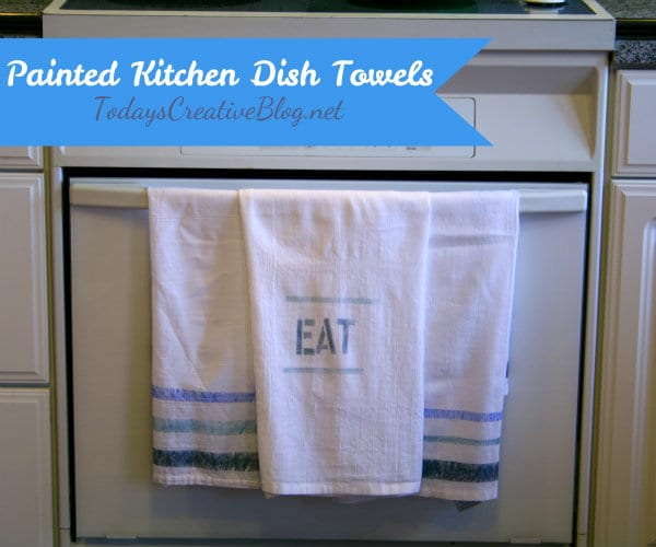 Painted kitchen dish towels