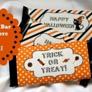Halloween Candy Bar Wrapper {free printable}