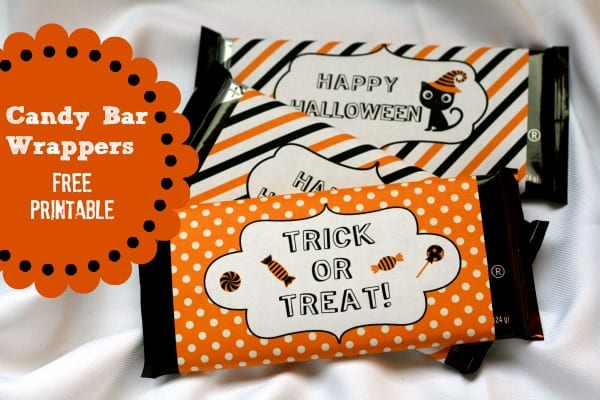 Halloween Candy Bar Wrapper {free printable} | See more fun Halloween ideas on TodaysCreativeLife.com