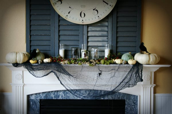 decorating for halloween - Halloween Mantel Decor