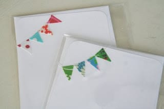 fabric pennant cards