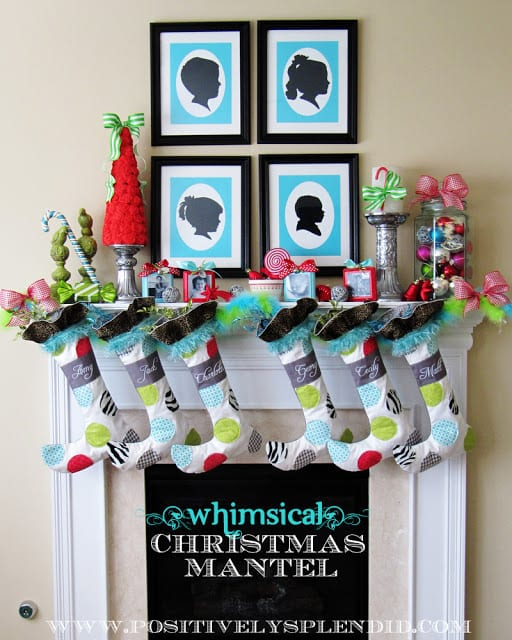 whimscial holiday mantel