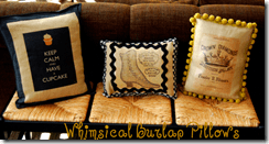 whimsical pillows
