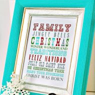 Printable Subway Art {Holiday Cheer}